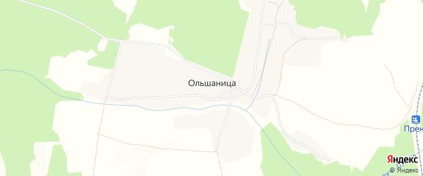 Карта деревни Ольшаницы в Брянской области с улицами и номерами домов