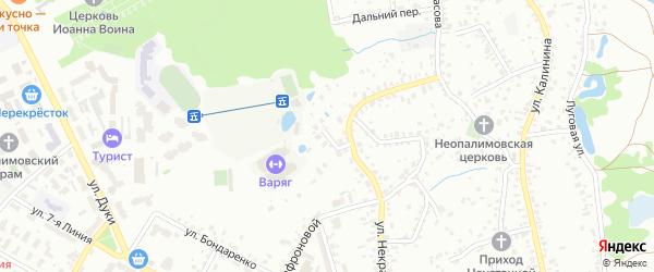 Ново-Некрасовский переулок на карте Брянска с номерами домов