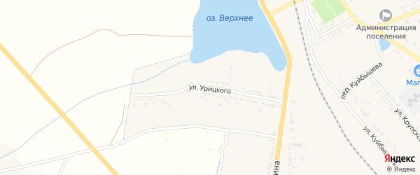 Улица Урицкого на карте поселка Любохны с номерами домов