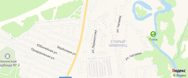 Улица Лермонтова на карте Фокино с номерами домов