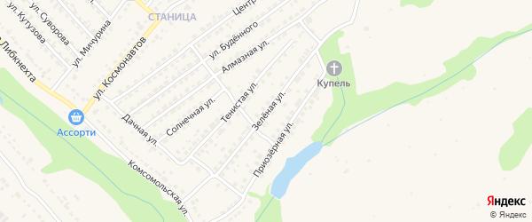 Зеленая улица на карте Дятьково с номерами домов