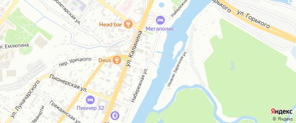 Набережная улица на карте Брянска с номерами домов
