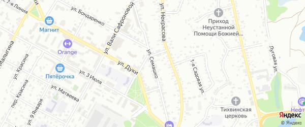 Улица Семашко на карте Брянска с номерами домов