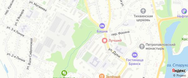 Мало-Завальская улица на карте Брянска с номерами домов