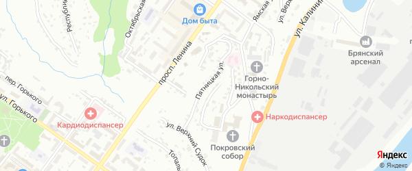 Пятницкая улица на карте Брянска с номерами домов