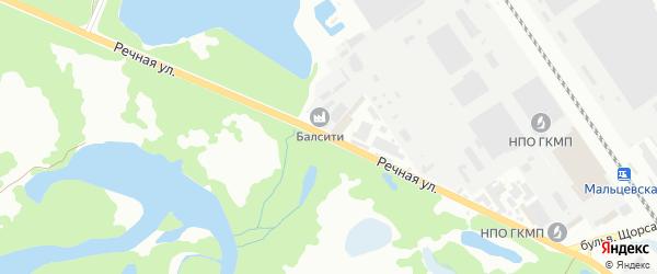 Речная улица на карте Брянска с номерами домов
