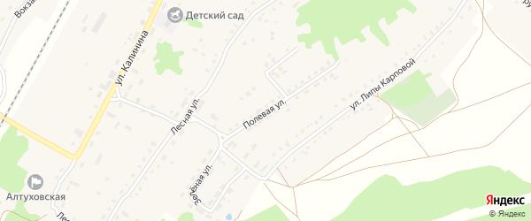 Полевая улица на карте поселка Алтухово с номерами домов