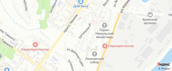 Покровский переулок на карте Брянска с номерами домов