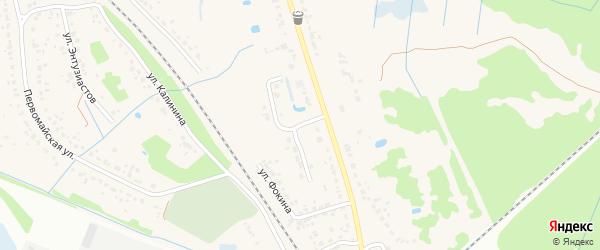 Переулок Фокина на карте поселка Радицы-Крыловки с номерами домов