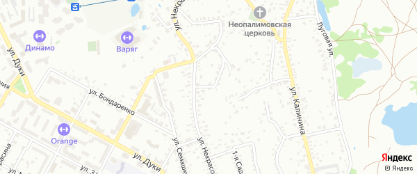 Проезд Некрасова на карте Брянска с номерами домов