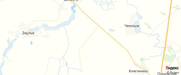 Карта территории Чемлыжского сельского поселения Брянской области с районами, улицами и номерами домов