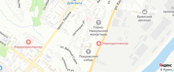 Улица Покровская Гора на карте Брянска с номерами домов