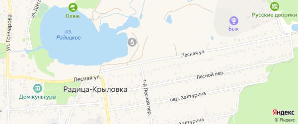 Лесная улица на карте поселка Радицы-Крыловки с номерами домов