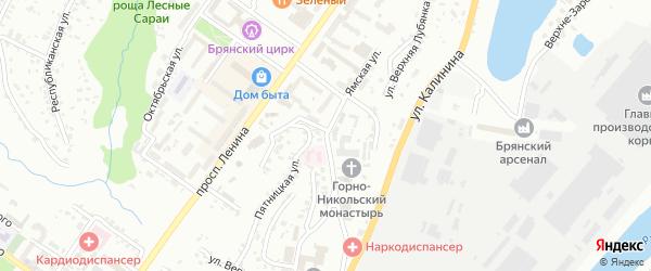 Арсенальская улица на карте Брянска с номерами домов