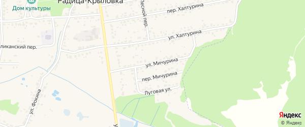 Улица Мичурина на карте поселка Радицы-Крыловки с номерами домов