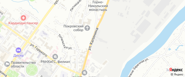 Улица Калинина на карте Брянска с номерами домов