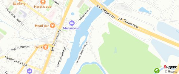 Нижне-Заречная улица на карте Брянска с номерами домов