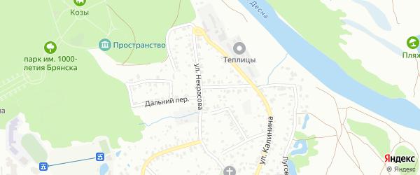 Ново-Некрасовская улица на карте Брянска с номерами домов