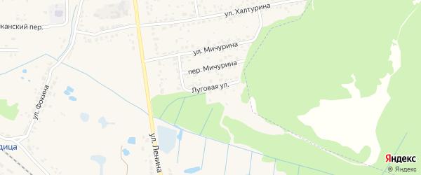 Луговая улица на карте поселка Радицы-Крыловки с номерами домов
