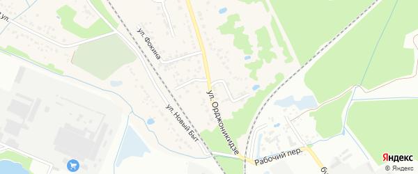 Улица Орджоникидзе на карте поселка Радицы-Крыловки с номерами домов