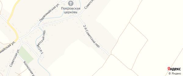 2-й Советский переулок на карте села Селечни с номерами домов
