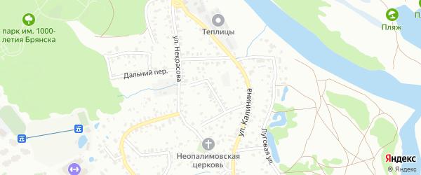 Переулок Калинина на карте Брянска с номерами домов