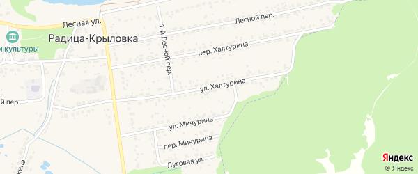 Улица Халтурина на карте поселка Радицы-Крыловки с номерами домов