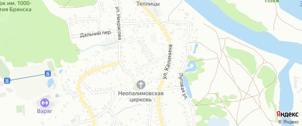 Переулок Некрасова на карте Брянска с номерами домов