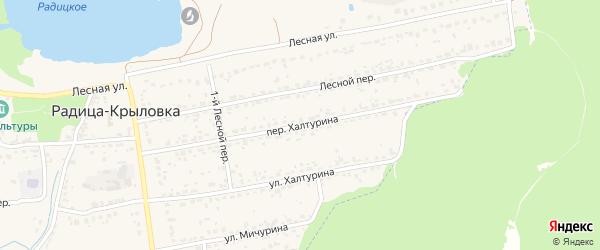 Переулок Халтурина на карте поселка Радицы-Крыловки с номерами домов