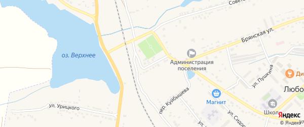 Улица Коренкова на карте поселка Любохны с номерами домов