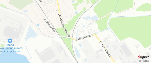 Рабочая улица на карте Брянска с номерами домов