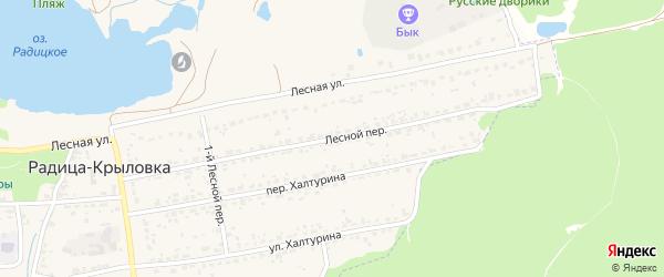 Лесной переулок на карте поселка Радицы-Крыловки с номерами домов