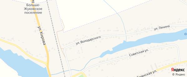 Улица Володарского на карте поселка Любохны с номерами домов