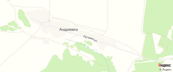Карта деревни Андреевки в Брянской области с улицами и номерами домов