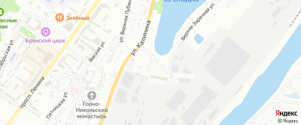 Лубянский переулок на карте Брянска с номерами домов