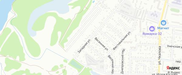 Западная улица на карте Брянска с номерами домов