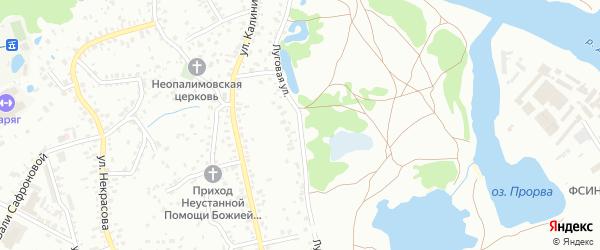 Луговая улица на карте Брянска с номерами домов