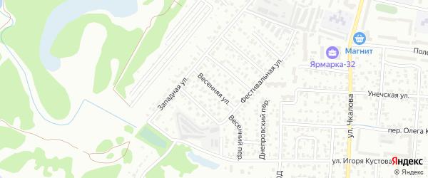 Весенняя улица на карте Брянска с номерами домов