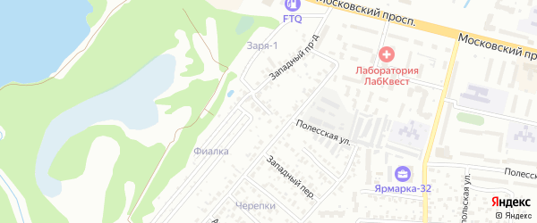 Западный проезд на карте Брянска с номерами домов