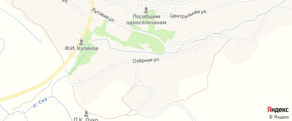 Озерная улица на карте села Семеновска с номерами домов
