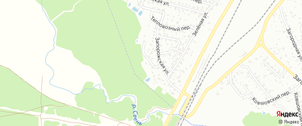 Запорожский проезд на карте Брянска с номерами домов