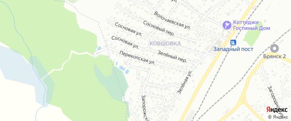 Перекопская улица на карте Брянска с номерами домов