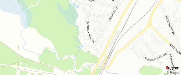 Запорожская улица на карте Брянска с номерами домов