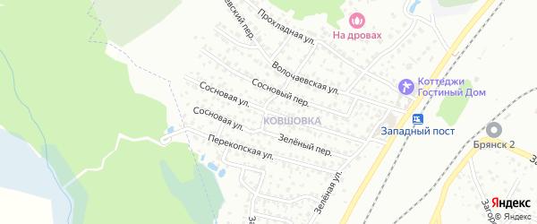 Сосновая улица на карте Брянска с номерами домов