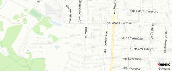 Улица МЮД на карте Брянска с номерами домов