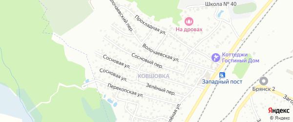 Сосновый переулок на карте Брянска с номерами домов