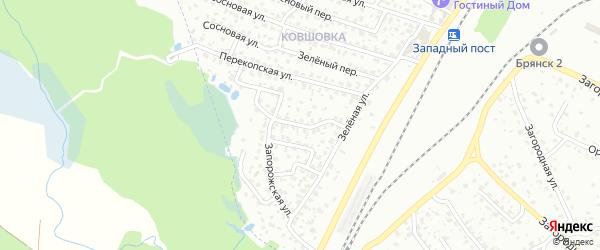Тепловозный переулок на карте Брянска с номерами домов
