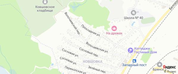 Вишневый переулок на карте Брянска с номерами домов
