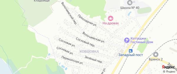 Яблоневый переулок на карте Брянска с номерами домов