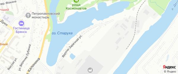 Верхне-Заречная улица на карте Брянска с номерами домов